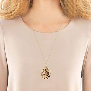 Jewelry - NEW BOHO TEARDROP ACRYLIC OVAL PENDANT NECKLACE